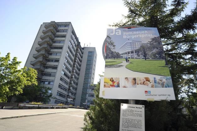 Wird abgerissen: Bettenhochhaus des  Bürgerspitals Solothurn