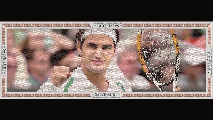 Baselland-Export Roger Federer als römisches Mosaik: Der Sechseläuten-Gastauftritt machts möglich.