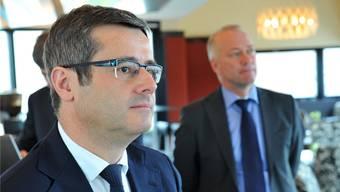 Finanzchef Benvenuto Savoldelli (FDP) muss den neuen Budgetplan sowie den Finanz- und Investitionsplan 2016-2022 vertreten.Bruno kissling