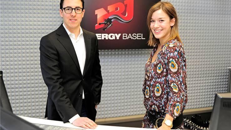Energy-Chef Dani Büchi, neuer Verwaltungsrat von Radio Basel, und Eva Nidecker, Leiterin ad interim von Energy Basel.