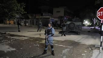 Afghanische Sicherheitskräfte nach Angriff auf Gästehaus in Kabul