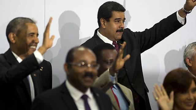 Maduro (Mitte, oben) und Obama (links, oben) beim Gruppenbild