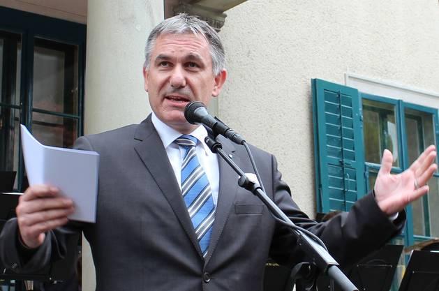 Kulturdirektor Alex Hürzeler lobte das Wohler Engagement für das neue Strohmuseum. fh