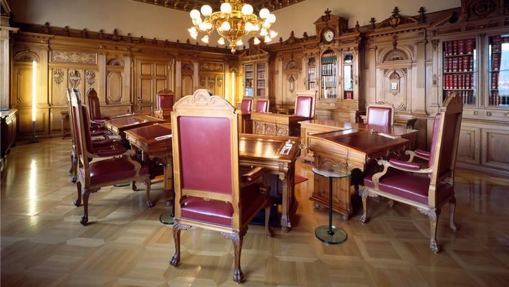 Blick ins Bundesratszimmer in Bern. (Archivbild)
