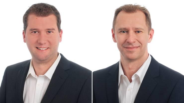 Roger Fesser links und Daniel Notter rechts rücken für Martin Keller und Daniel Frautschi nach.