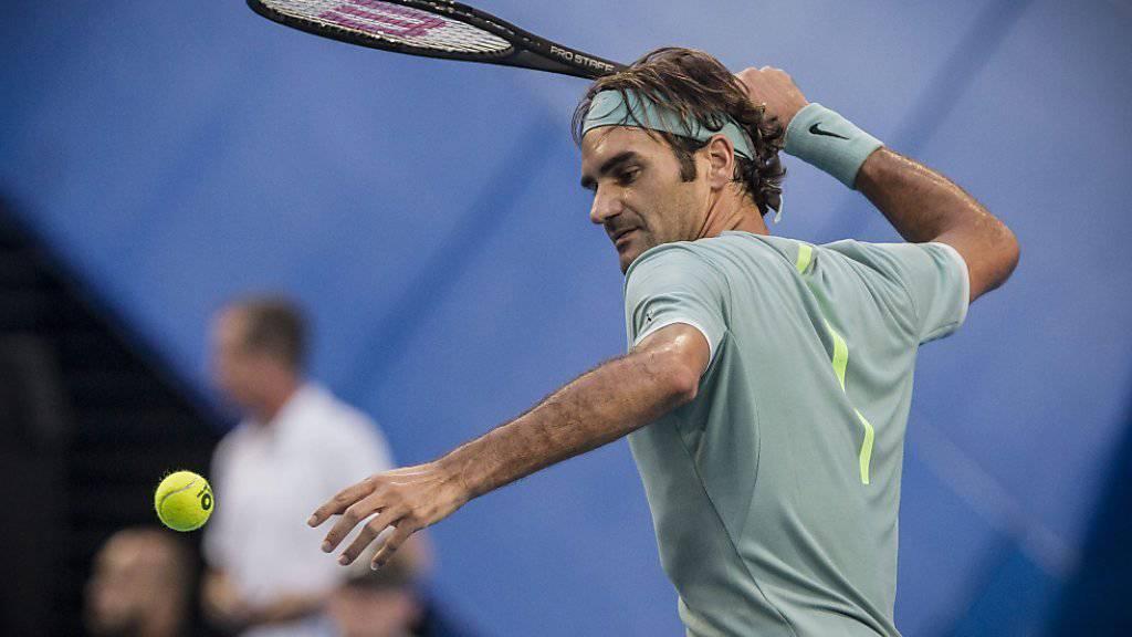Roger Federer unterzog sich gegen Alexander Zverev einem harten Test
