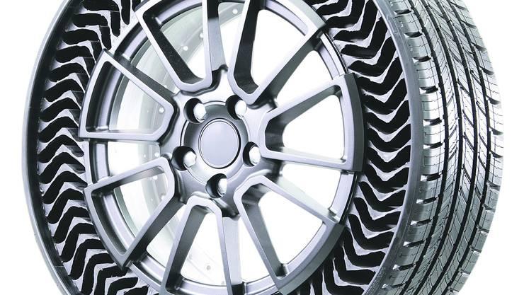 Luftlose Reifen: Der Uptis von Michelin.