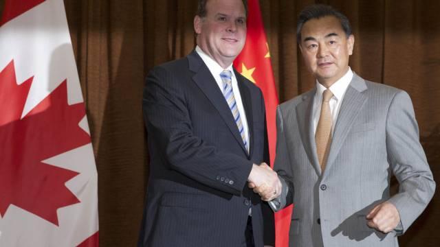 Kanadischer und chinesischer Aussenminister bei Treffen Ende Juli