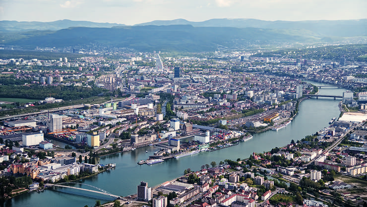 Luftbild vom Dreiland