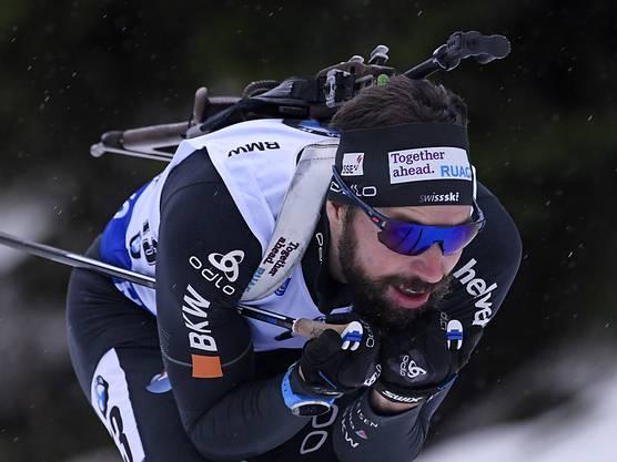 Der beste Schweizer Biathlet, der Oberwalliser Benjamin Weger, im Einsatz in Oberhof