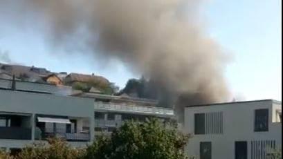 Brand einer Tiefgarage in Anglikon