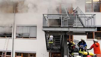 Das Feuer brach in einer Werkstatt für Geistig- und Mehrfachbehinderte aus