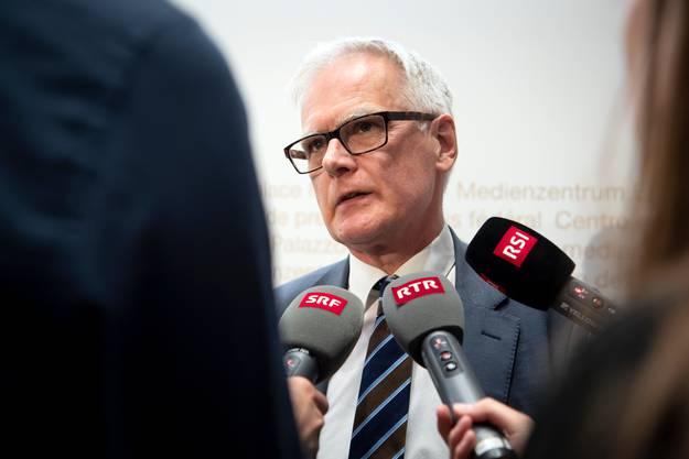 Handelte korrekt: Hanspeter Uster, Präsident der Aufsichtskommission über die Bundesanwaltschaft AB-BA, hier in einem Archivbild von 2019.