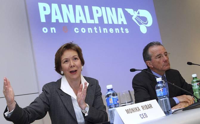 Gehört zu den wichtigsten Wirtschaftsfrauen der Schweiz: Monika Ribar war CEO von Panalpina (hier ein Foto aus dem Jahr 2007, mit Präsident Rudolf W. Hug, r.)
