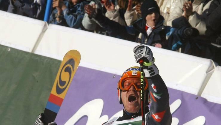 Der Durchbruch: 2002 siegte Didier Cuche im Riesenslalom von Adelboden