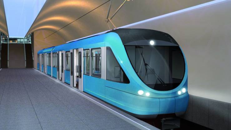 So stellen sich die Initianten die Luzerner Metro vor. Sie soll Passagiere in drei Minuten vom Stadtrand im Gebiet Ibach zum Schwanenplatz bringen.