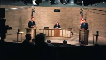 Der Beginn einer grossen Tradition: In den 1960ern duellierten sich mit John F. Kennedy (l) und Richard Nixon erstmals zwei Präsidentschaftskandidaten vor laufenden Kameras.