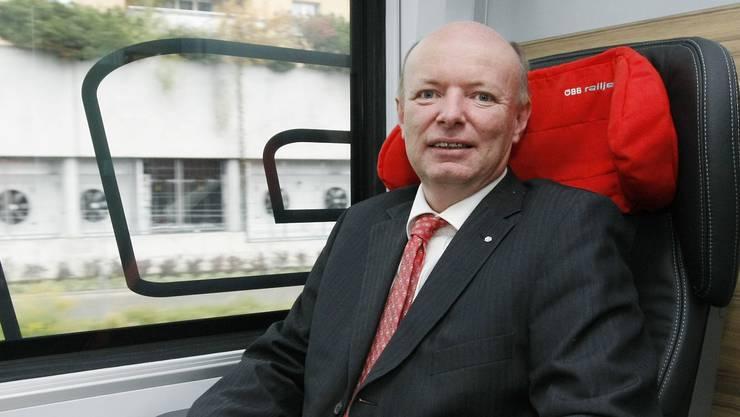 Im Zug nach oben: Vincent Ducrot, neuer SBB-Chef.