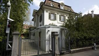 Die israelische Botschaft in Bern - der Arbeitsplatz von Botschafter Yigal Caspi, der beim EDA gegen die Finanzierung einer israelkritischen Ausstellung protestierte (Archiv)