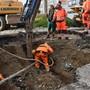 Wasserrohrbruch: In Kaiseraugst stürzte die Strasse ein