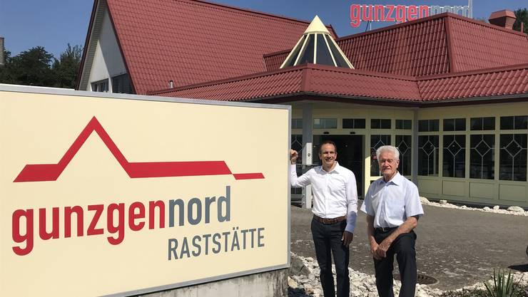 Paul Zgraggen schrieb von 1969 bis 2006 die Geschichte von «Gunzgen Nord» (rechts), dann folgte Sohn Yves.