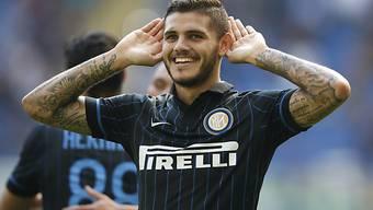 Mauro Icardi steuerte zum Inter-Schützenfest drei Tore bei