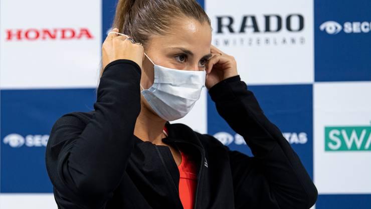 Beim Swiss Tennis Pro Cup in Biel wird ein strenges Sicherheitskonzept angewendet. Das Tragen von Masken ist Pflicht.