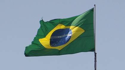 Die Brasilien-Fahne auf einer Ölplattform des staatlich kontrollierten Ölkonzerns Petrobras
