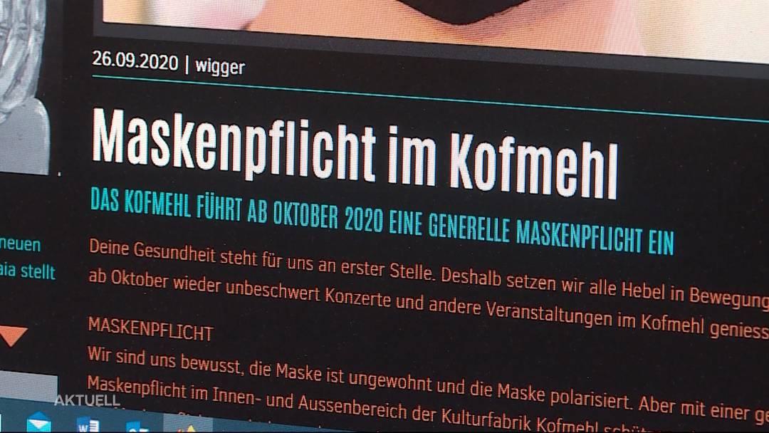 Party mit Maske: Kofmehl in Solothurn führt die Maskenpflicht ein