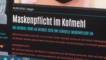 Ab Donnerstag gelten im Kofmehl in Solothurn neue Corona-Regeln: Neben dem Contact-Tracing gilt im ganzen Lokal die Maskenpflicht. Mit dieser Massnahme sind einige Besucher jedoch gar nicht einverstanden, weil die Maske ein Stimmungskiller sei. Ausserdem führen die Massnahmen zu finanziellen Einbussen, weil deutlich weniger Besucher reingelassen werden dürfen.
