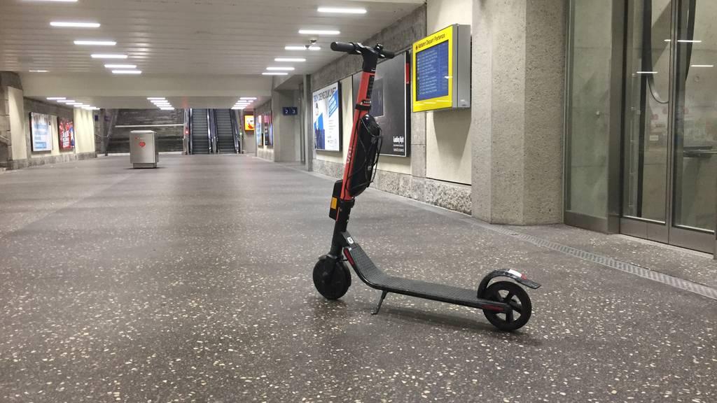 E-Trottinette am Bahnhof St.Gallen