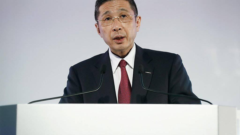 Der japanische Autobauer Nissan hat im Streit mit Renault um das künftige Kräfteverhältnis in der Autoallianz seinem Konzernchef das Vertrauen ausgesprochen. Hiroto Saikawa solle an der Spitze des Unternehmens bleiben. (Archiv)