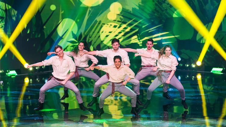 Als Indiana Jones traten die Tänzerinnen und Tänzer von «Focus» im Halbfinale von «Die grössten Schweizer Talente» auf.