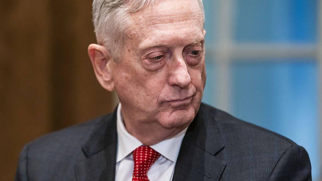 US-Verteidigungsminister James Mattis hat aus Protest gegen den politischen Kurs von US-Präsident Donald Trump seinen Rücktritt angekündigt. (Archiv)