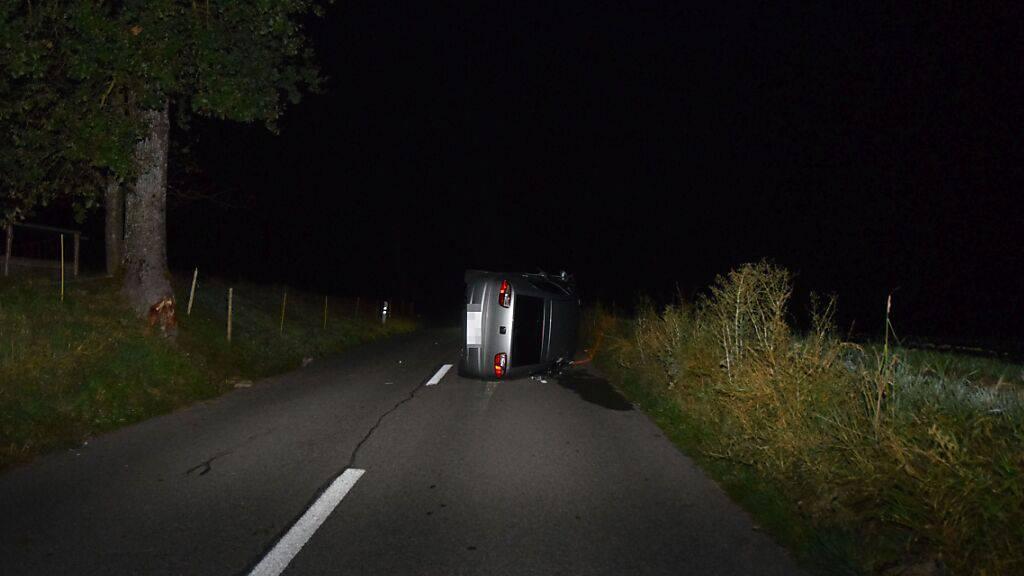 Fahrzeuglenker entfernt sich nach Selbstunfall von Unfallstelle