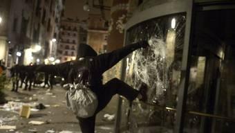 Auch in Barcelona kam es zu Ausschreitungen