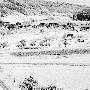 Blick auf das alte Dättwil: Das Bauerndorf vom Segelhof her (noch ohne Forschungszentrum), 1963 von Werner Nefflen fotografiert.
