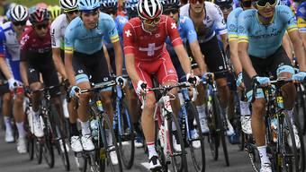 Am Mittwoch fährt das Feld der Tour de Suisse - im Bild der Schweizer Meister Steve Morabito - von Münchenstein nach Einsiedeln