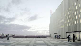 Bau des Eishockeystadions «Theatre of Dreams»