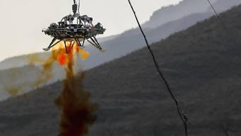 Test eines chinesischen Mars-Landegeräts in der Provinz Hebei im letzten November. (Archivbild)
