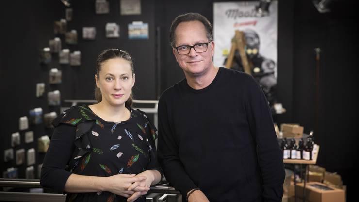 Martina Unternährer und Stefan Egli, die beiden Gründer von «Swiss Design Market».