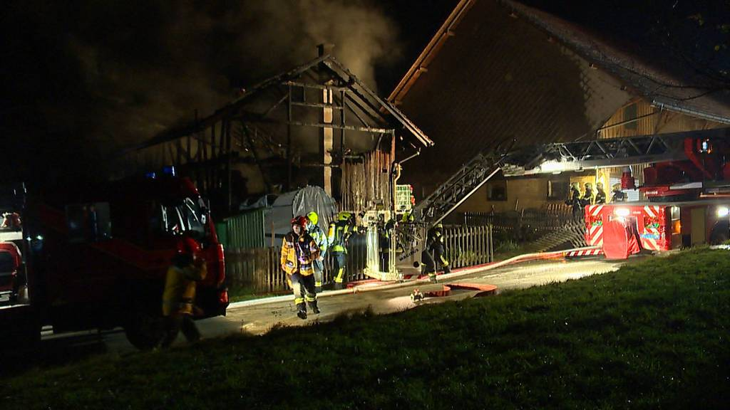 Schönholzerswilen (TG): Scheune komplett ausgebrannt