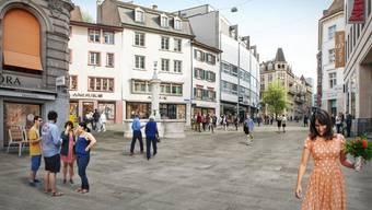 Für die Umgestaltung der Freien Strasse soll Alpnacher Quarzsandstein verwendet werden.