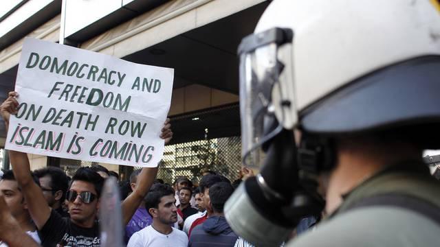 Muslime demonstrieren in Athen