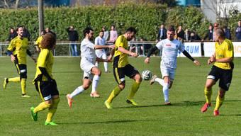 Hazir Zenuni (am Ball) steht neu bei 11 Saisontoren, Semir Bisevac (rechts) sogar bei 14.