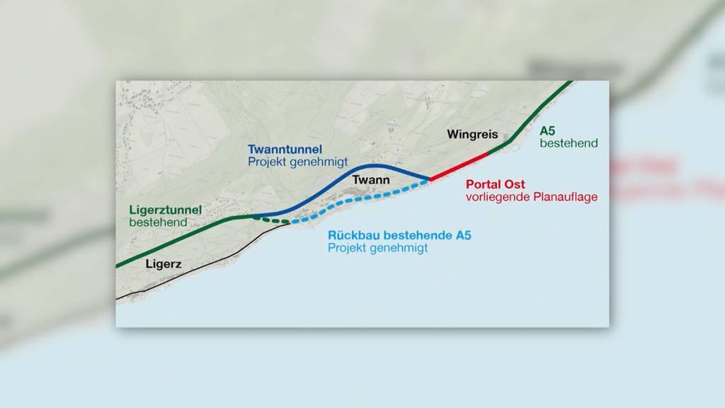 Krach am Bielersee: Geplanter Tunnel in Twann stösst auf Widerstand