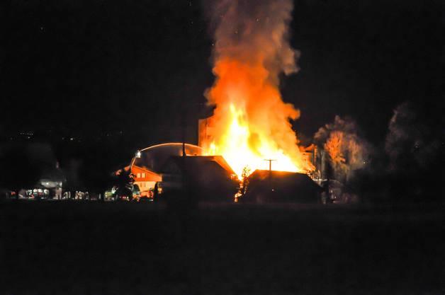 Grossbrand in der Eichmühle in Beinwil/Freiamt