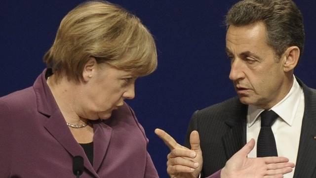 Angela Merkel und Nicolas Sarkozy