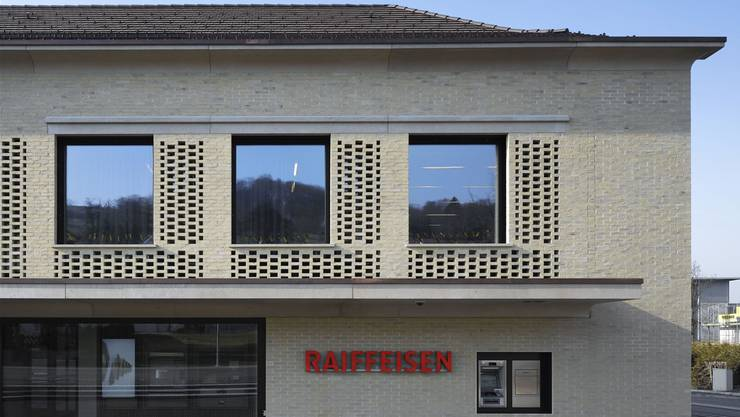 Neubau der Raiffeisenbank Zufikon. zvg