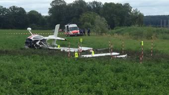 Flugzeugabsturz in Grenchen - Pilot verletzt